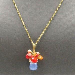 Alexis Bittar Multicolor Gemstone Necklace